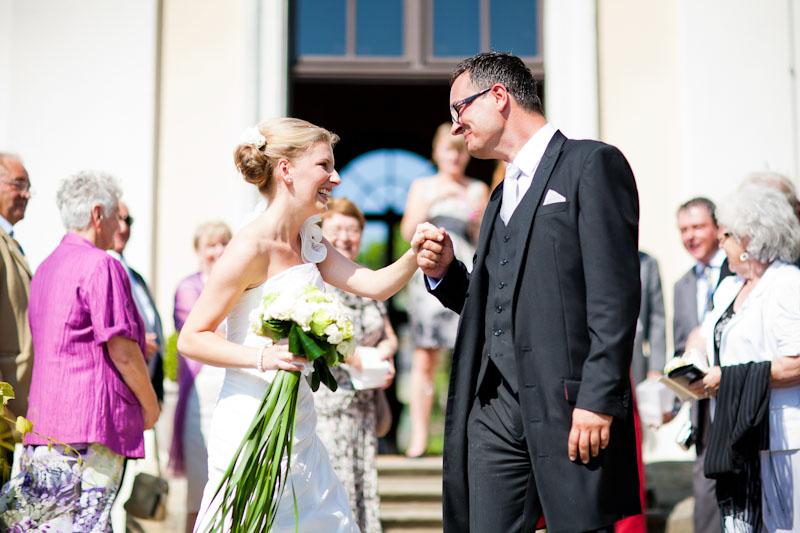 Hochzeitsfoto auf Schloss Wackerbarth